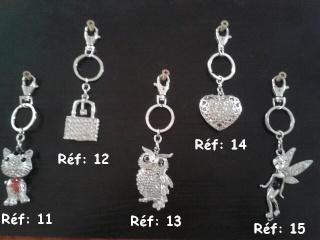Bijoux de sac ou porte-clés pour les 4 pattes de LA COMP'ANI Collec15