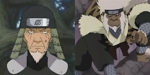 Sarutobi Hiruzen & Shiranui Genma VS Yagura & Kurogane Shion Enma12