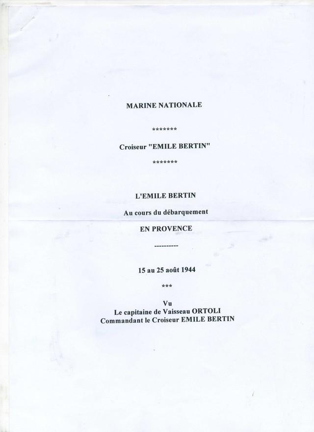 EMILE  BERTIN (Croiseur) - Page 2 Bertin10
