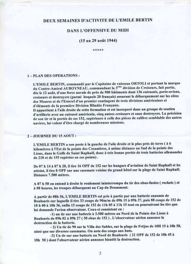 EMILE  BERTIN (Croiseur) - Page 2 Bertin12