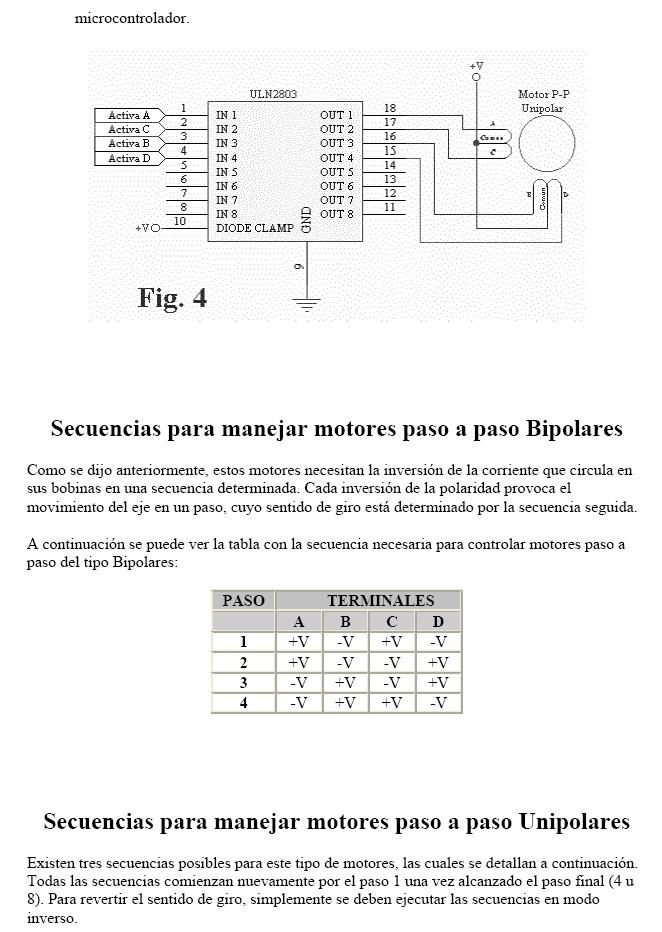 Motores paso a paso (impresora) Motore13