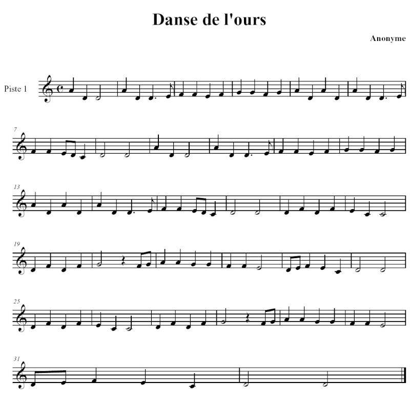 Branle ou danse de l'Ours Branle10
