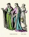 FEMME : Tenues vestimentaires XIIème et XIIIème siècles Plate112