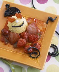 Poêlée de fruits rouges à la réglisse Poelef10
