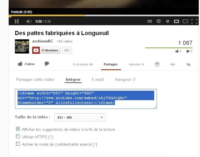 Les pattes du LM fabriquées à Longueuil, une perle sous YouTube Sans_t45