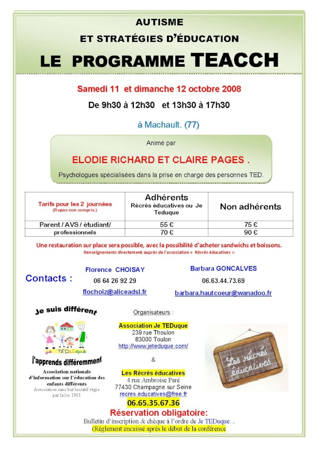 dp77 autisme et stratégies d'éducation : le prog TEACCH 10_mac10