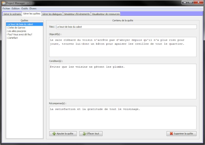 [En développement] Project Manager Projec12