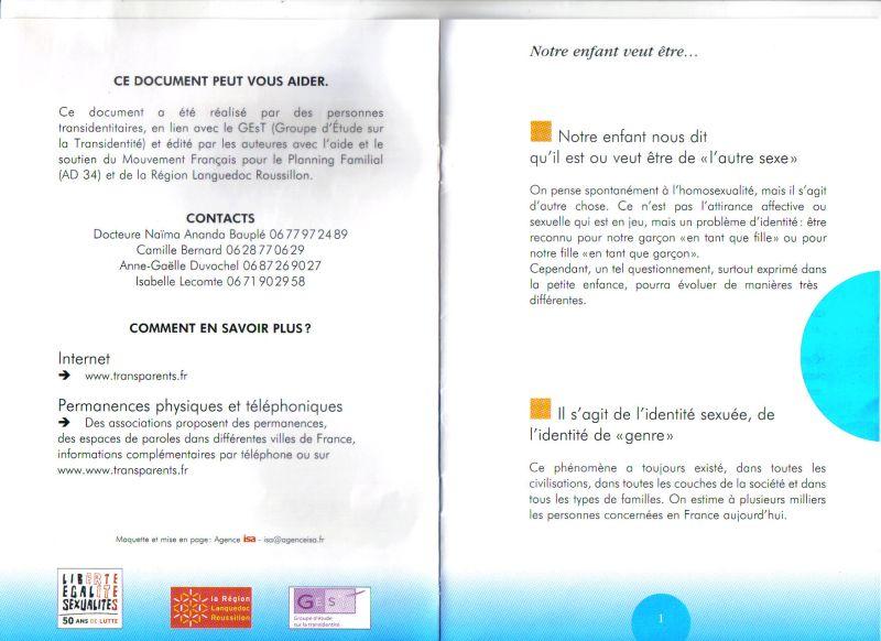 Brochure pour accompagner les parents de trans Transp11