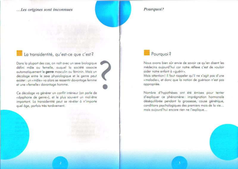 Brochure pour accompagner les parents de trans Transp12