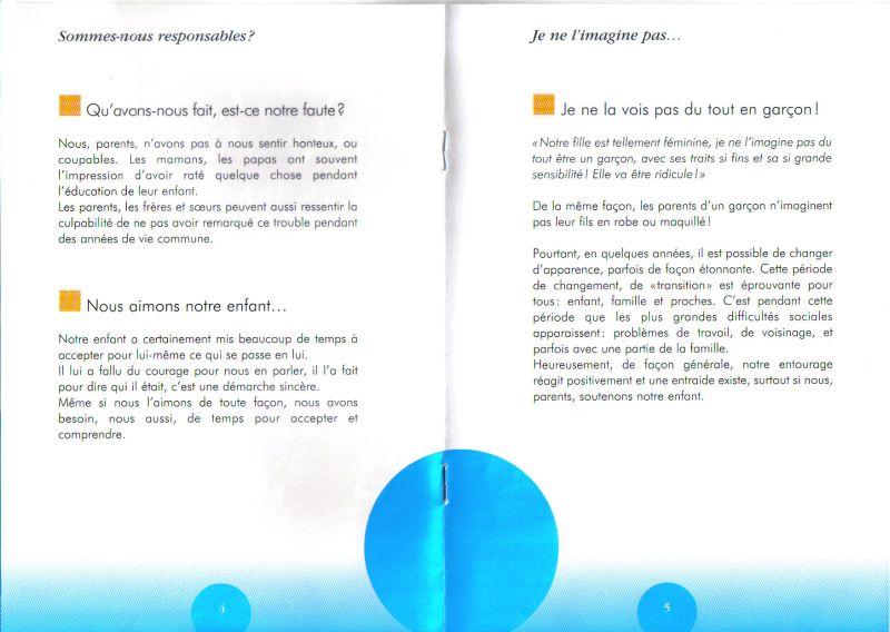 Brochure pour accompagner les parents de trans Transp13