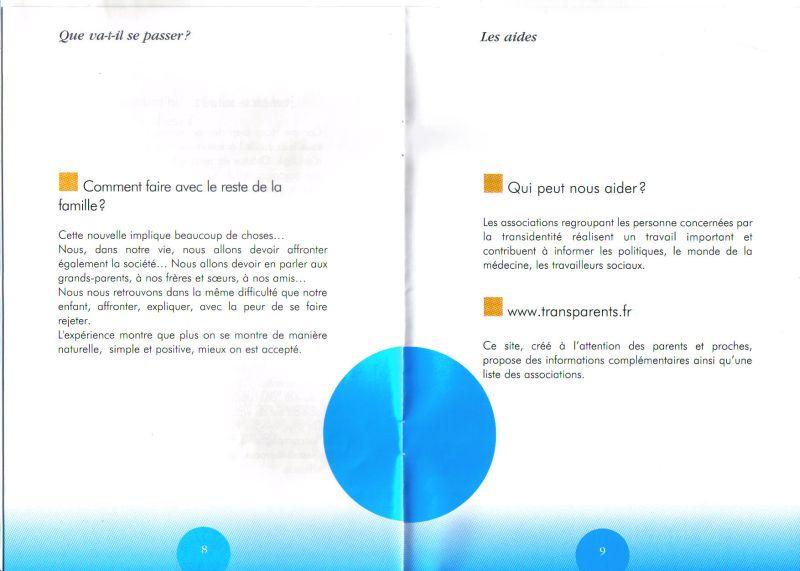 Brochure pour accompagner les parents de trans Transp16