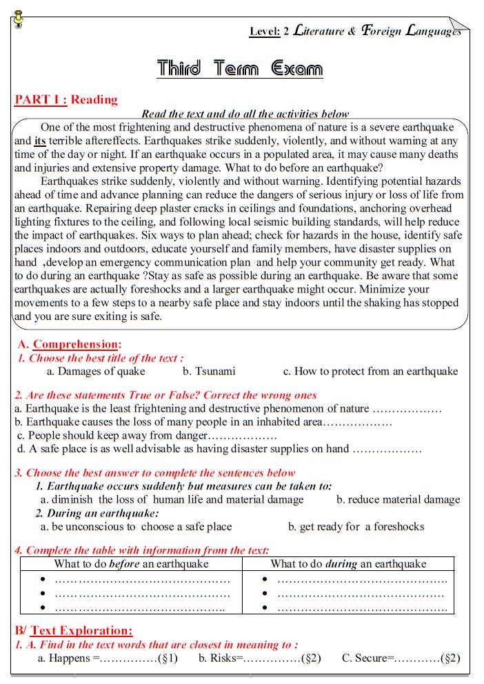 Third Term Exam (L.L.E)l 111