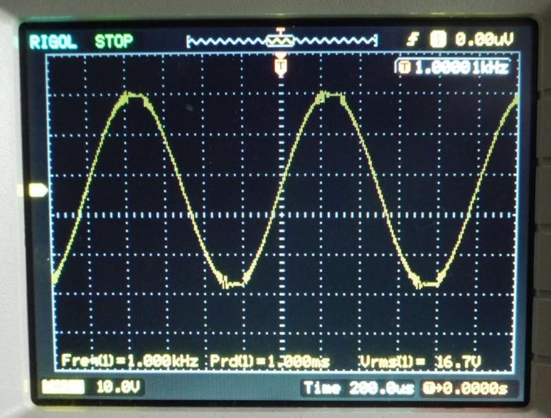 Modulo amplificatore 50+50W 4 Ohm Abletec ALC0100-2300 Test,prove, misure e modifiche Clippi23