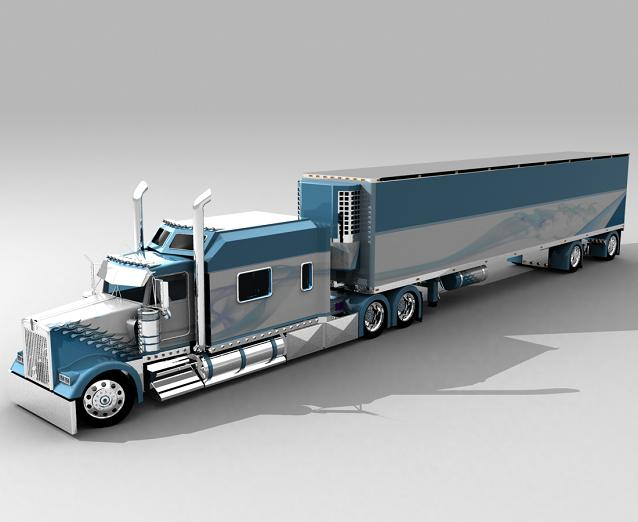 truck 3D Blusil11