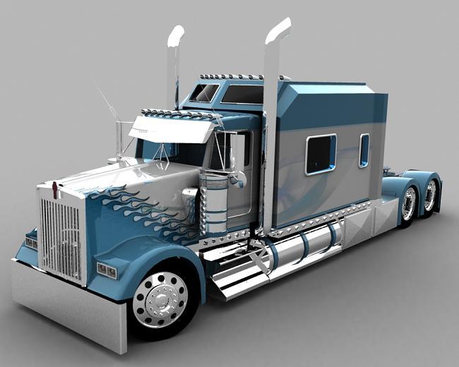 truck 3D Blusil12
