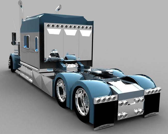 truck 3D Blusil16