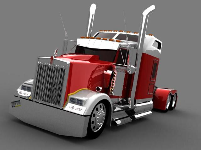 truck 3D Redkw110