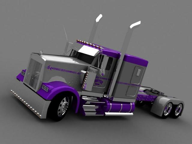 truck 3D Silver10