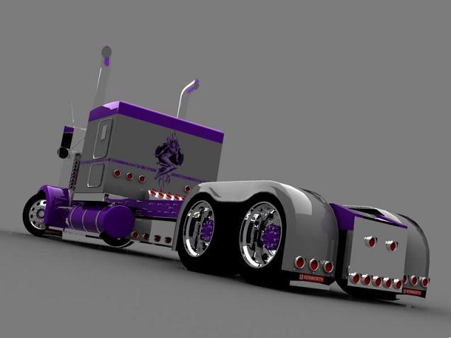 truck 3D Silver12