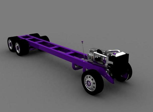 truck 3D Silver13