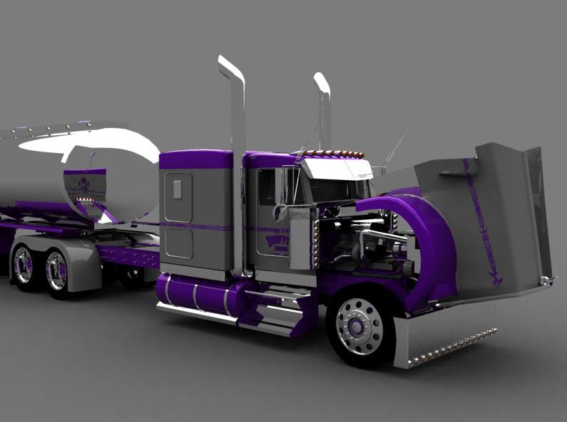 truck 3D Silver14