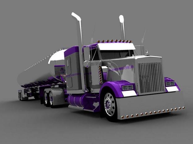 truck 3D Silver15
