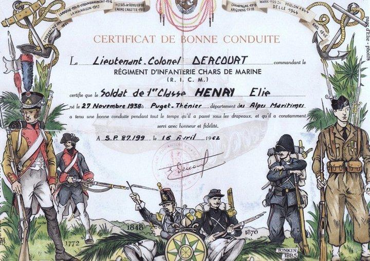 Henry Elie un ancien du RICM. Certif10