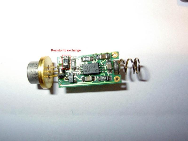 كيف تصنع ليزر حارق من ليزر عادى + معلومات ليزر أخضر شرير لدفاع 100mw+ وصناعة ليزر بالسيدروم Pict0917