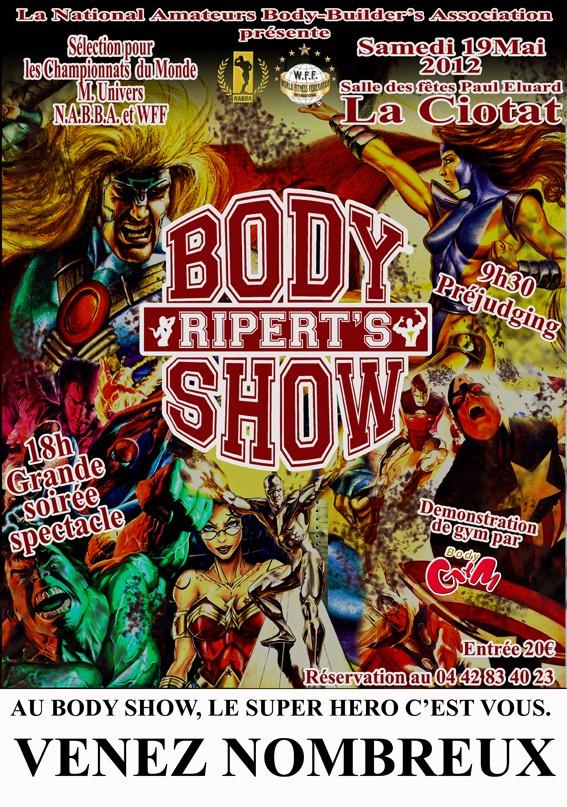 body - RIPERT'S BODY SHOW 2012 Affich10