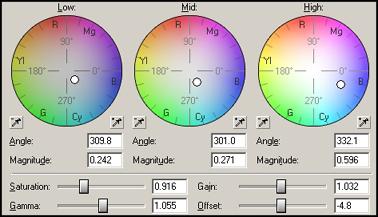 Ajuster la balance des couleurs en partant de plusieurs sources caméras T1610