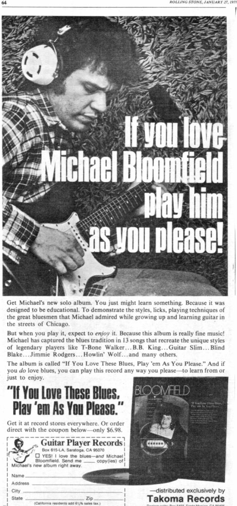 Michael Bloomfield : If You Love This Blues, Play Em As You Please (1976) 76_if_12