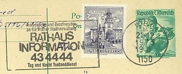 Maschinenwerbestempel von Österreich 00100110