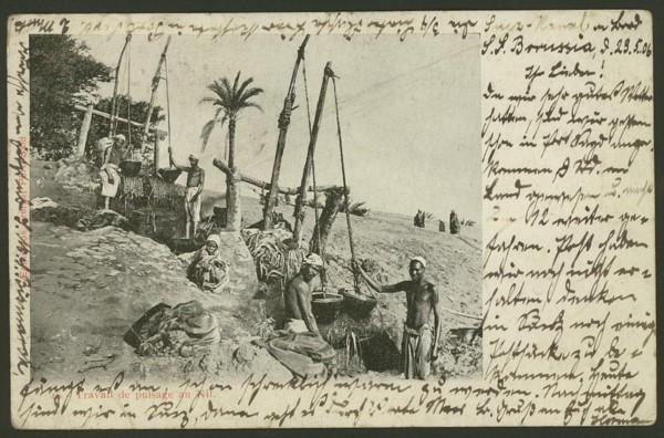 Ägypten   -   Alte Ansichtskarten   /   Menschen bei der Arbeit 02910
