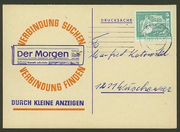 Bildhafte Werbezudrucke bei Bedarfspost  -  Bücher, Zeitschriften, Verlage Der_mo10