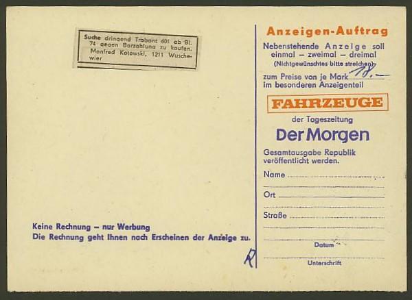 Bildhafte Werbezudrucke bei Bedarfspost  -  Bücher, Zeitschriften, Verlage Der_mo11