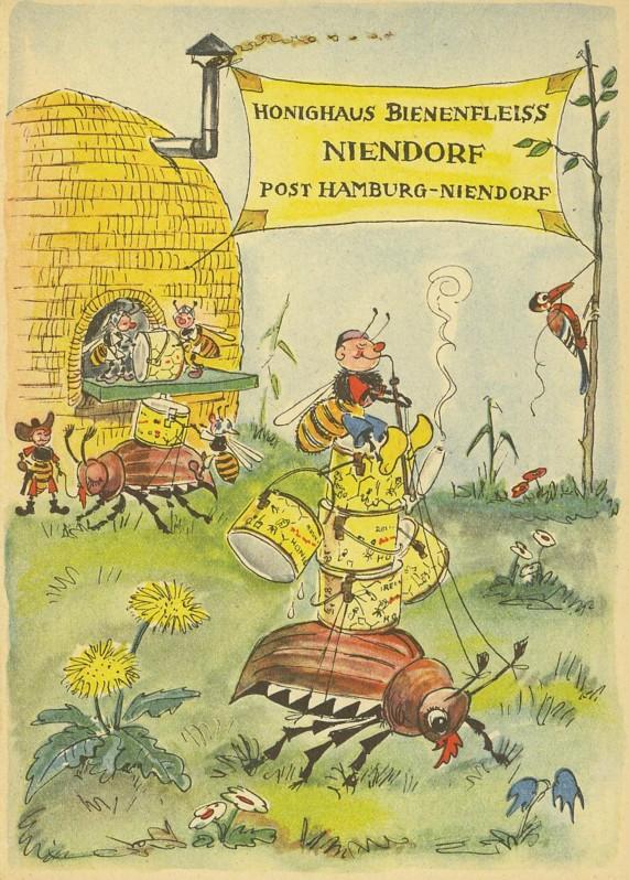 Motiv Bienen und Hummeln Honig110