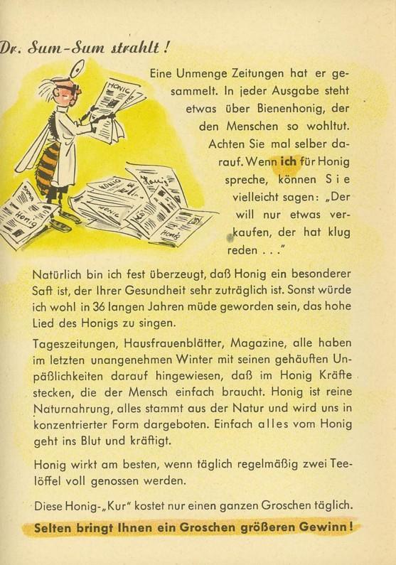 Motiv Bienen und Hummeln Honig410