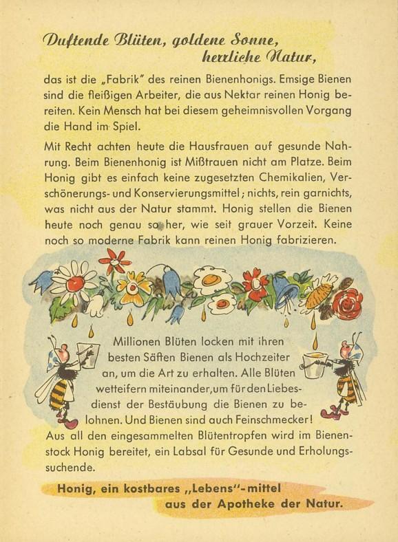 Motiv Bienen und Hummeln Honig710