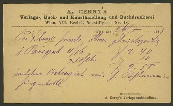 Nachtrag - Bücher, Zeitschriften, Verlage, Buchhandlungen   -   Textzudrucke auf Postkarten N_czer11