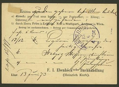 Nachtrag - Bücher, Zeitschriften, Verlage, Buchhandlungen   -   Textzudrucke auf Postkarten N_eben13