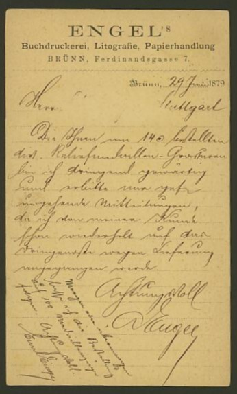 Nachtrag - Bücher, Zeitschriften, Verlage, Buchhandlungen   -   Textzudrucke auf Postkarten N_enge11