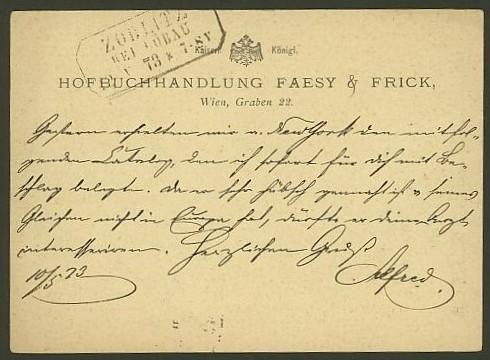Nachtrag - Bücher, Zeitschriften, Verlage, Buchhandlungen   -   Textzudrucke auf Postkarten N_faes11
