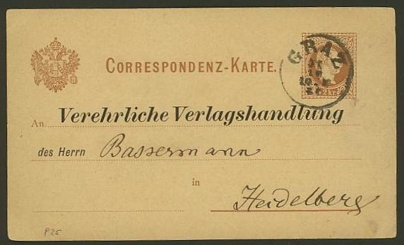 Nachtrag - Bücher, Zeitschriften, Verlage, Buchhandlungen   -   Textzudrucke auf Postkarten N_graz10