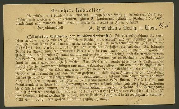 Nachtrag - Bücher, Zeitschriften, Verlage, Buchhandlungen   -   Textzudrucke auf Postkarten N_hart11