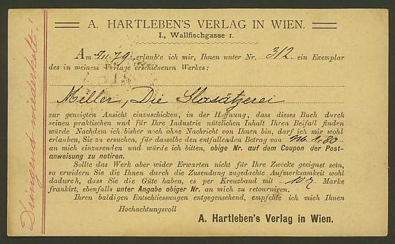 Nachtrag - Bücher, Zeitschriften, Verlage, Buchhandlungen   -   Textzudrucke auf Postkarten N_hart13