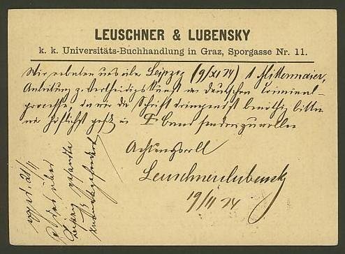 Nachtrag - Bücher, Zeitschriften, Verlage, Buchhandlungen   -   Textzudrucke auf Postkarten N_leus11