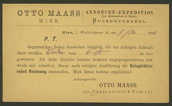 Nachtrag - Bücher, Zeitschriften, Verlage, Buchhandlungen   -   Textzudrucke auf Postkarten N_maas11