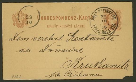 Nachtrag - Bücher, Zeitschriften, Verlage, Buchhandlungen   -   Textzudrucke auf Postkarten N_prag10