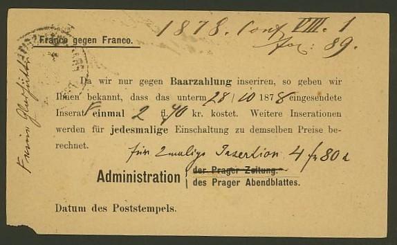 Nachtrag - Bücher, Zeitschriften, Verlage, Buchhandlungen   -   Textzudrucke auf Postkarten N_prag11