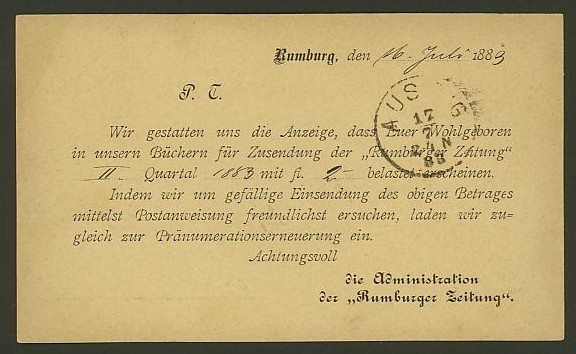 Nachtrag - Bücher, Zeitschriften, Verlage, Buchhandlungen   -   Textzudrucke auf Postkarten N_rumb11
